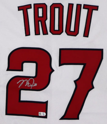 Mike Trout Autographed White Authentic Angels Jersey