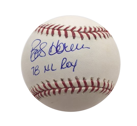 "Bob Horner Autographed Baseball with ""78 NL ROY"" inscription"
