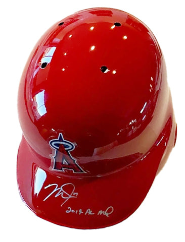 "Mike Trout ""19 AL MVP"" Autographed Full-Size Angels Batting Helmet"