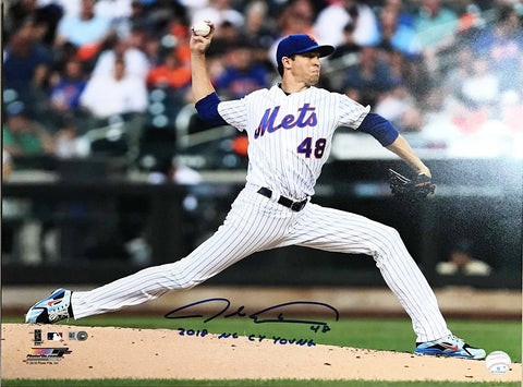"Jacob deGrom Autographed ""2018 NL CY Young"" 16x20"