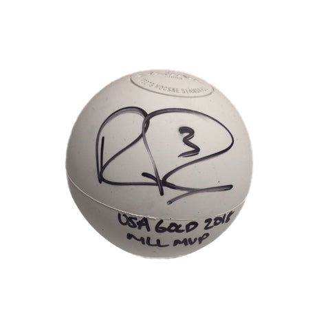 Rob Pannell Autographed Lacrosse Ball with 2018 MLL MVP and USA GOLD 2018 Inscription
