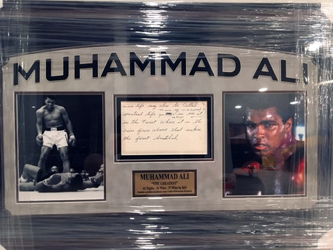 Muhammad Ali Hand-Written Story Framed Collage