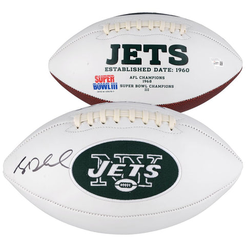 Sam Darnold Autographed New York Jets White Panel Football