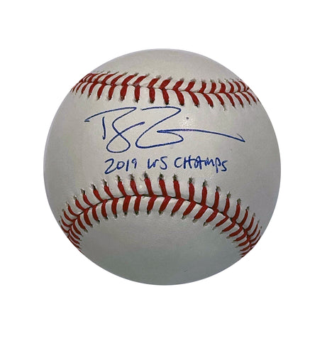 Ryan Zimmerman Autographed Rawlings Official Major League Baseball with 2019 WS Champs Inscriptions