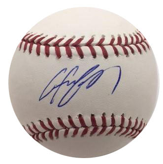 Chris Carter Autographed Baseball
