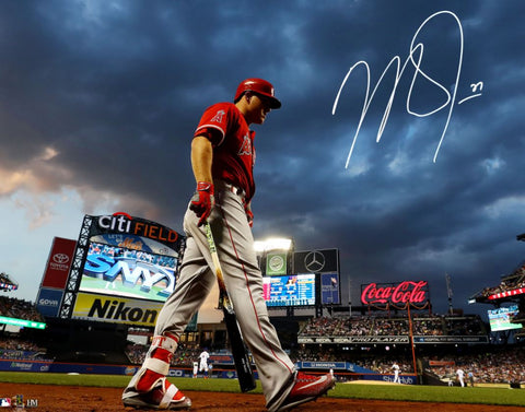 Mike Trout Autographed 16x20 - Citi Field Background