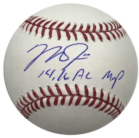 "Mike Trout ""14, 16 AL MVP"" Autographed Baseball"