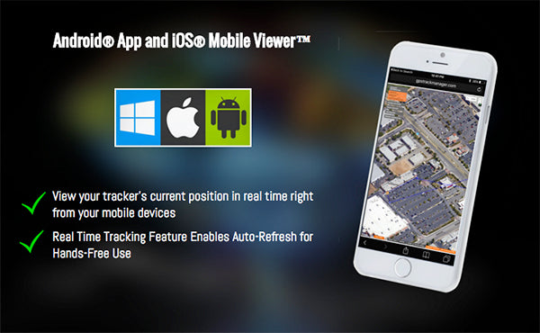 GPS Track Manager Android App and iOS Mobile Viewer - Track On The Go