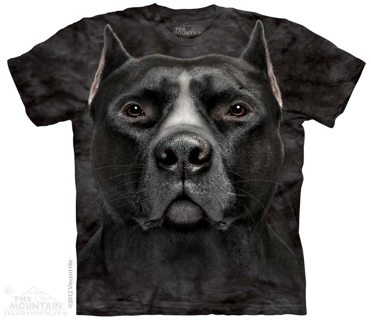 Black Pit Bull Head