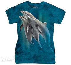 Three Dolphins Classic Ladies Tee