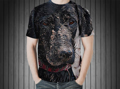T-Shirt - Labrador dog beach water wet