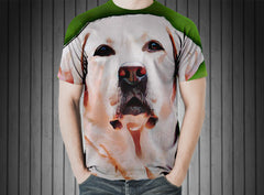 T-Shirt - Dog white labrador hundeportrait