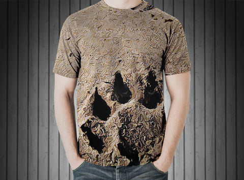T-Shirt - Footprint animal dog sand paw