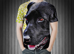 T-Shirt - Dog labrador pet animal head