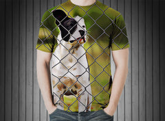 T-Shirt - Pit puppy dog small canine fence