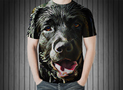 T-Shirt - Dog labrador language hair wet