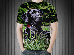 T-Shirt - Dog black labrador black dog