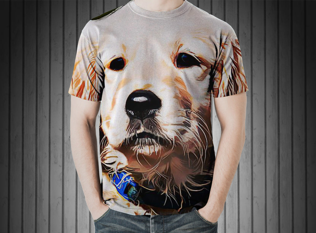 T-Shirt - Dog puppy golden retriever