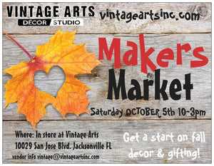 OCTOBER 5th - Fall Makers Market