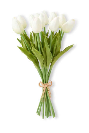 White real touch tulip stem