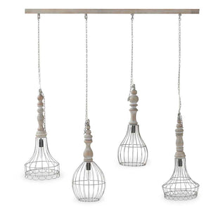 Coastal Farmhouse Pendent Light Chandelier