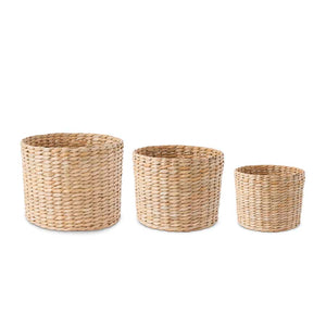 Round Woven Wheat Baskets