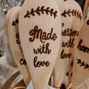 SPOON w/ Wood Burned Sentiment by Cami & Cat