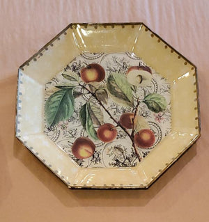 Vintage Decoupaged Fruit Plate by Moonlighting Interiors