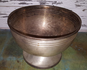 Large Vintage Silver Bowl with Natural Patina