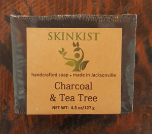 Charcoal & Tea Tree - Skinkist Handcrafted Soap