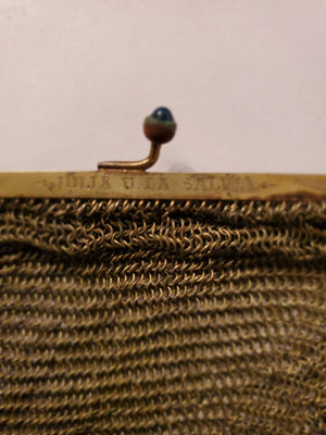 Soldiered Mesh Evening Bag - Flapper Purse / Great Gatsby / Art Deco era