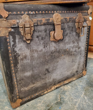 Antique Volcanized Black Trunk