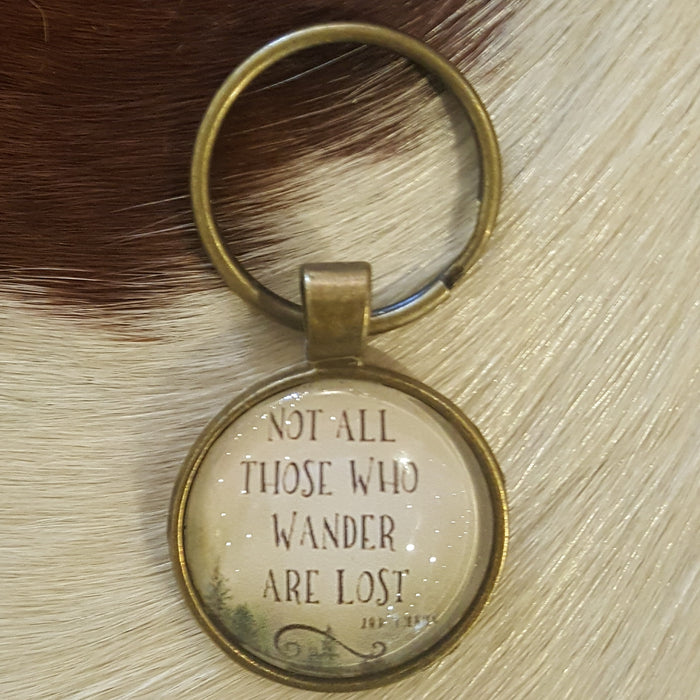 Not all those that wander are lost - handmade keychain