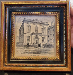 Small vintage framed print