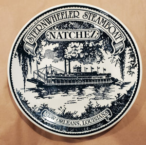 Vintage Ironstone Plate - Natchez Sternwheeler Steamboat New Orleans