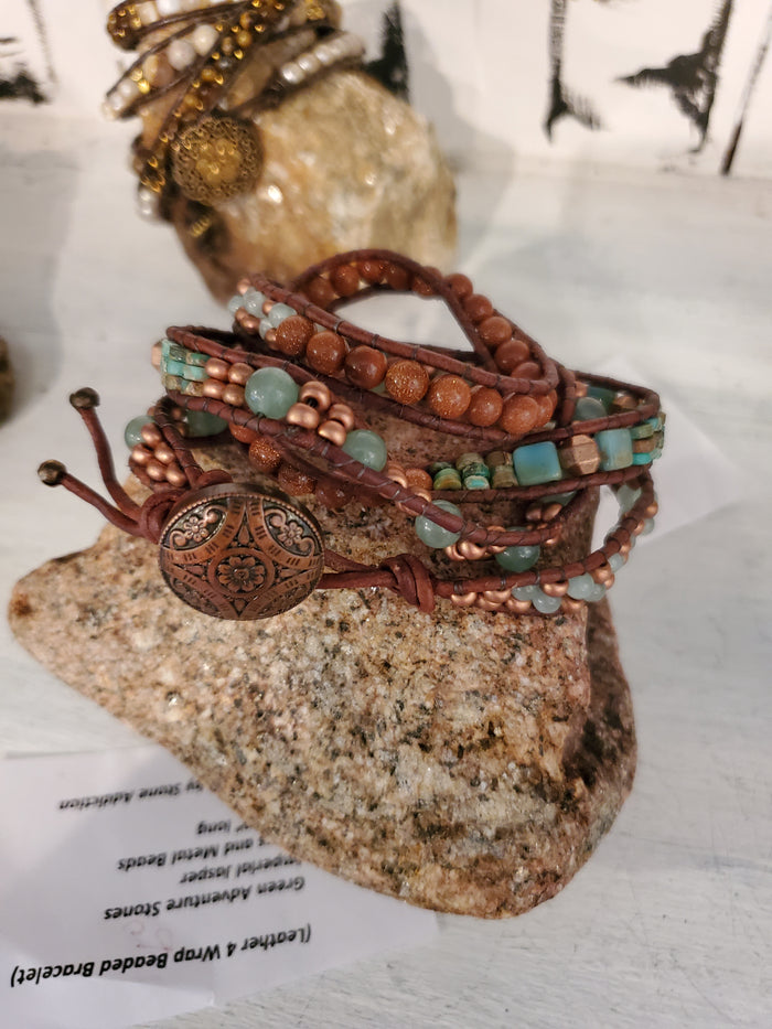 Stone Addiction Wrap Bracelet w/ Imperial jasper