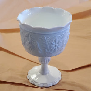 Vintage Milk Glass Chalice