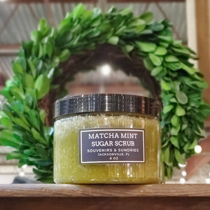 Matcha Mint Sugar Scrub - made locally