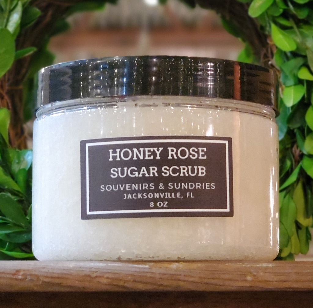 Honey Rose Sugar Scrub - made locally