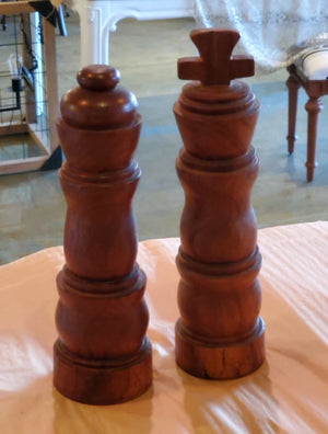 Vintage turned wood chess piece