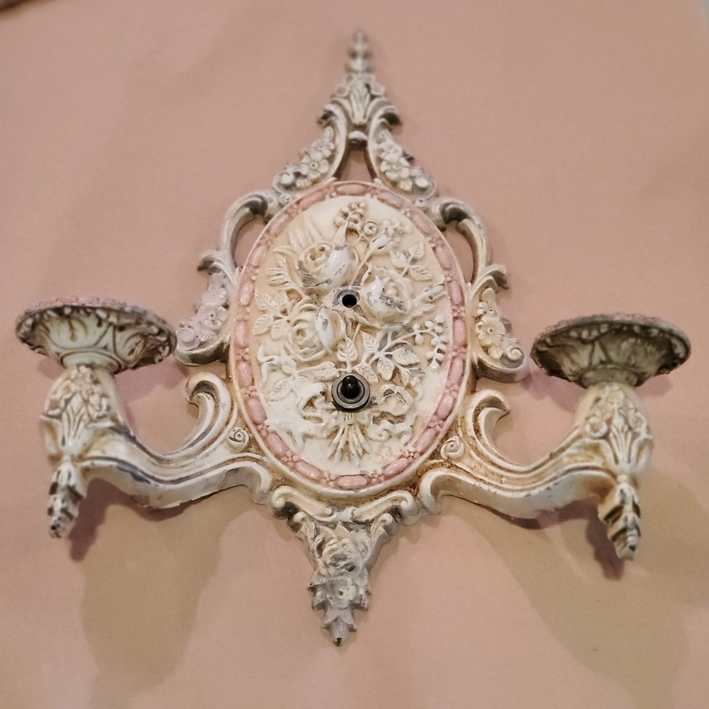 Victorian rose sconce (antique)