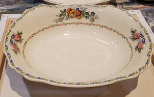 Oval serving bowl, Marigold Astoria Shape The Laconia by Alfred Meakin - 100 yrs old