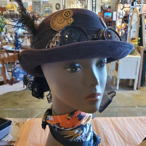 Women's Steampunk Hat with goggles