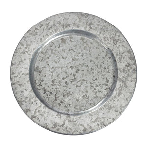 Galvanized tin charger plate