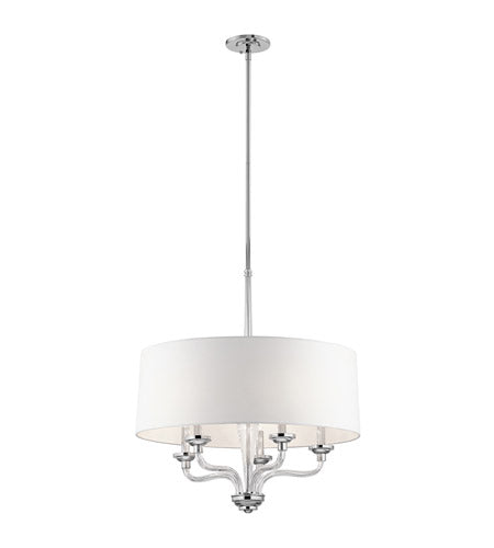 Kichler 5-light chandelier with drum shade