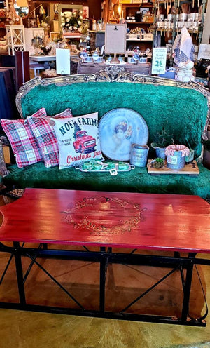 Handmade Christmas Sleigh Table
