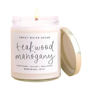 Teakwood and Mahogany Soy Candle