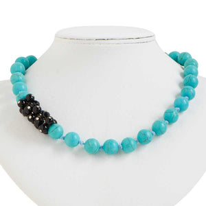 Turquoise and Black Bead Necklace