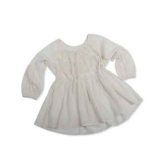 Ivory Peasant Top w/ Lace