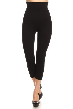 Bestseller! High Waist Control Top CAPRI Leggings